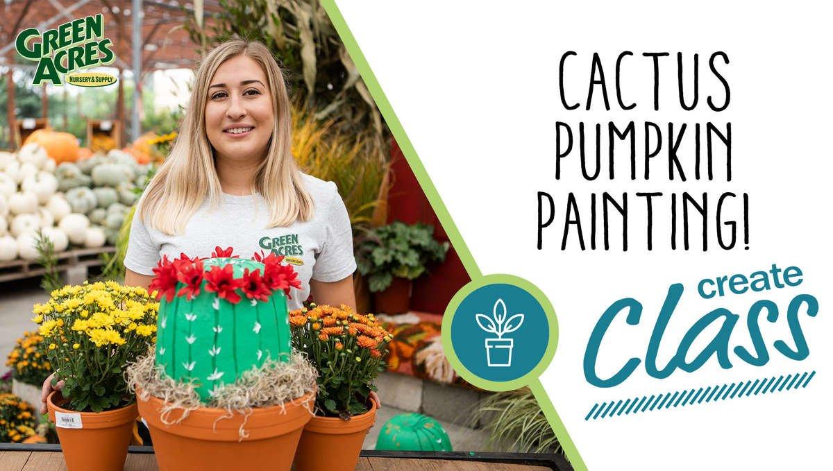 Cactus Pumpkin Painting