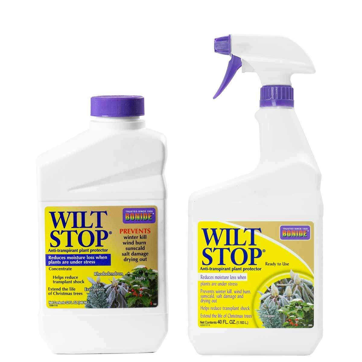 Bottles of Wilt Stop
