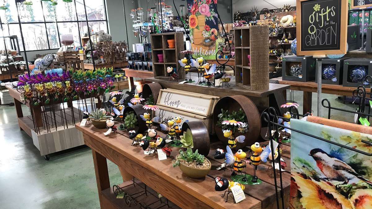 Decor display at Green Acres Nursery & Supply