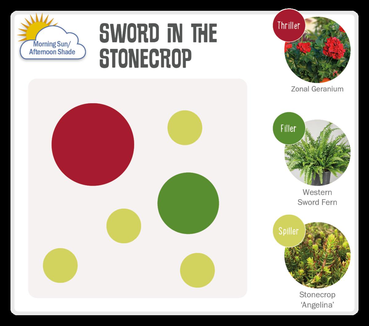 Image of Sword in the Stonecrop Pot-Up Recipe