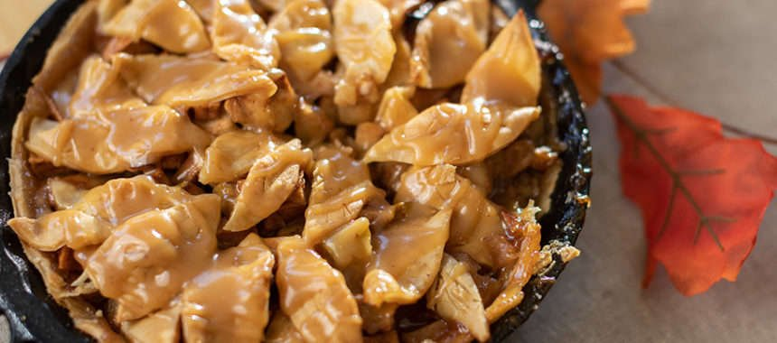 Link to Recipe for Apple Pie with Apple Bourbon Caramel Sauce