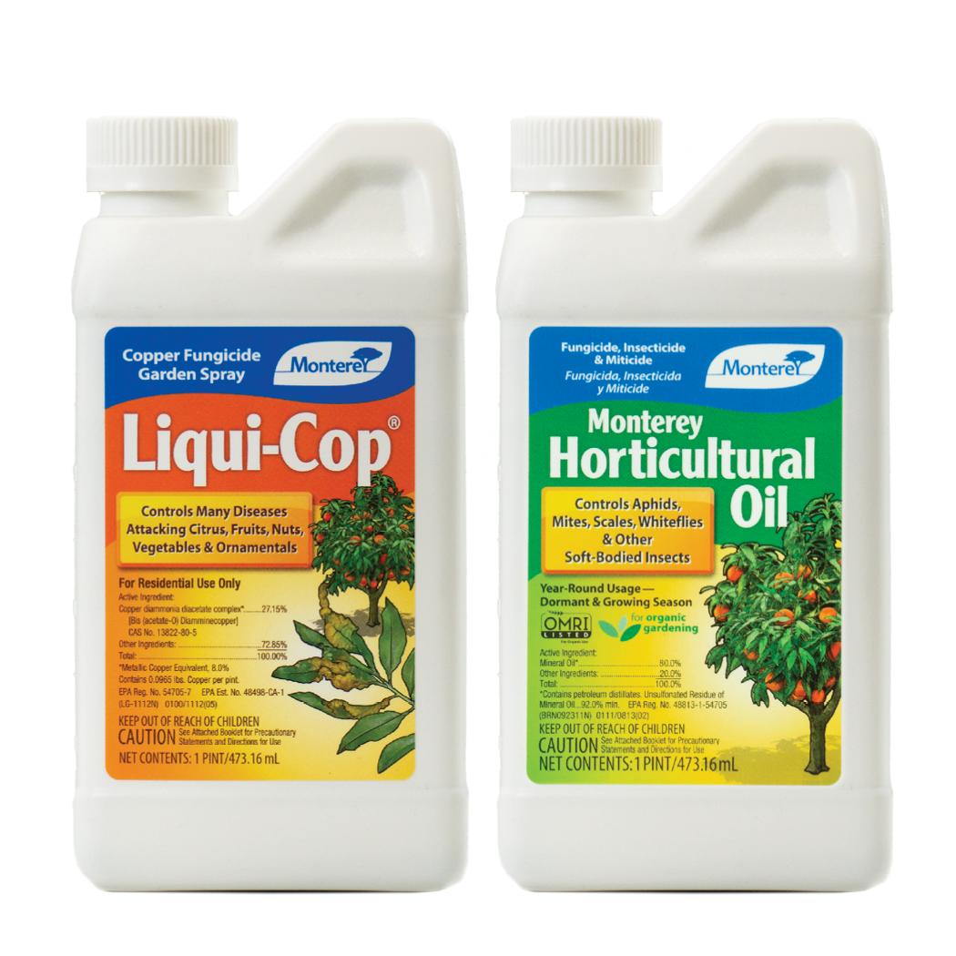 Monterey Liqui-Cop®  and Horticultural Oil Dormant Sprays