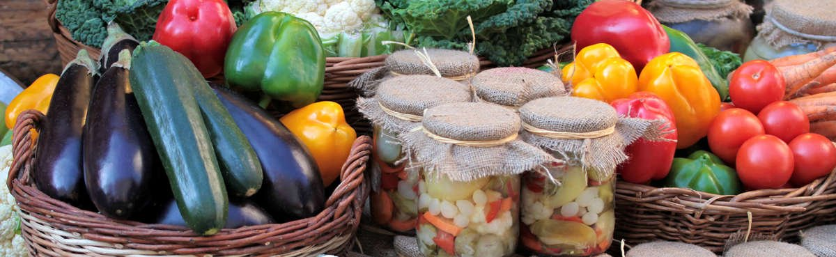 Fresh veggies and canned goods