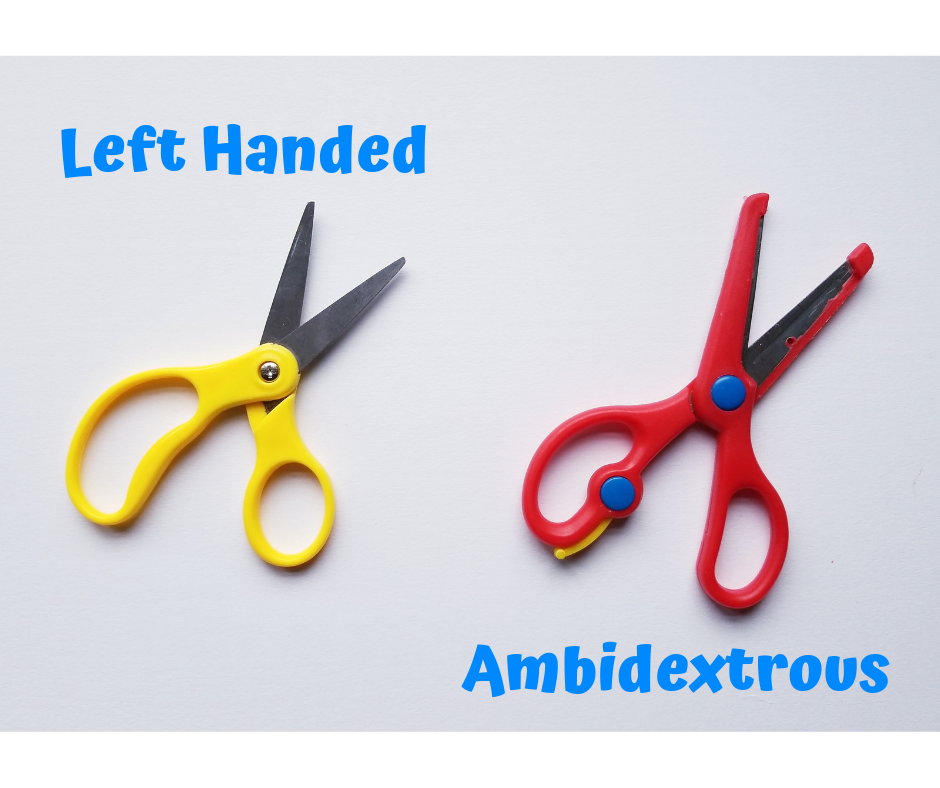 Left-handed vs Ambidextrous scissors