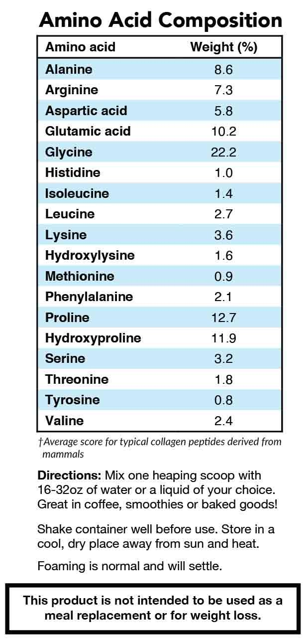 Grass Fed Collagen Peptides Powder Chaga Vitamin C