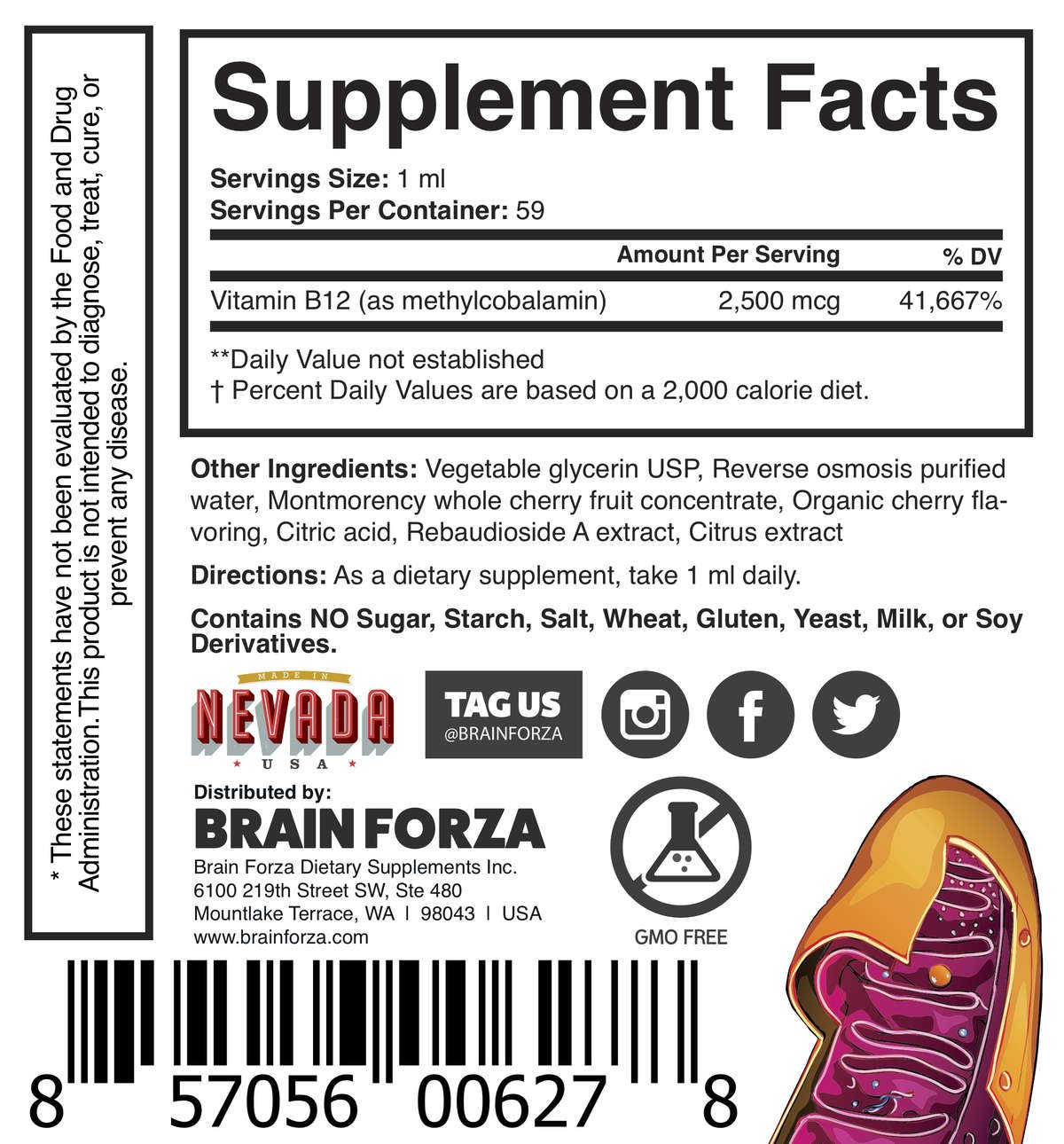 Brain Forza All-Natural Liquid Vitamin B12 2500 Benefits