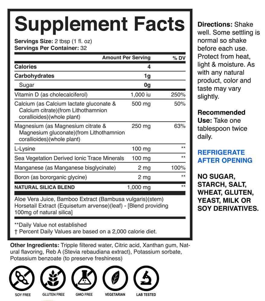 Brain Forza Liquid Calcium Magnesium Vitamin D Supplement