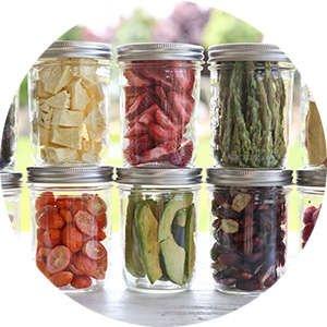 Jars With Freeze Dried Food