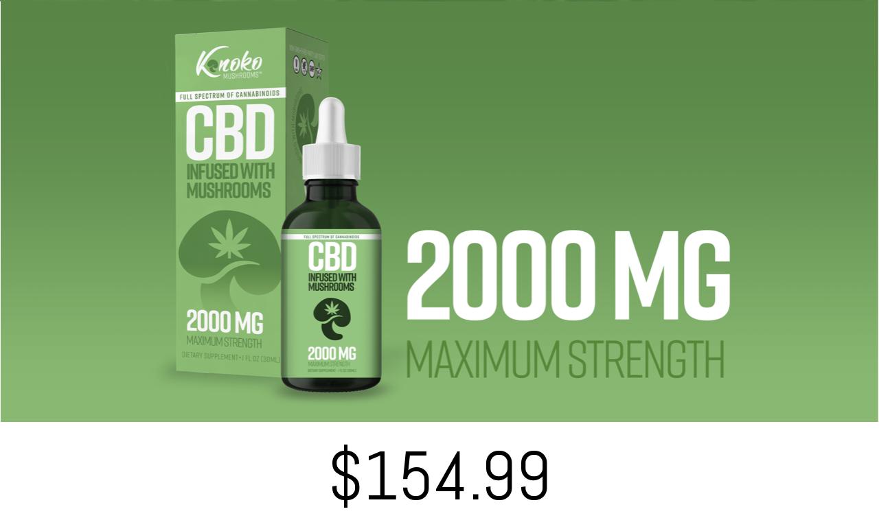 Kinoko CBD Max Strength 2000 Mg Oil
