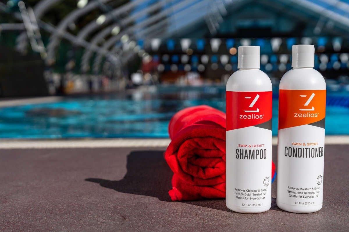 Zealios Swim Sport Shampoo To Remove Chlorine Sweat Salt