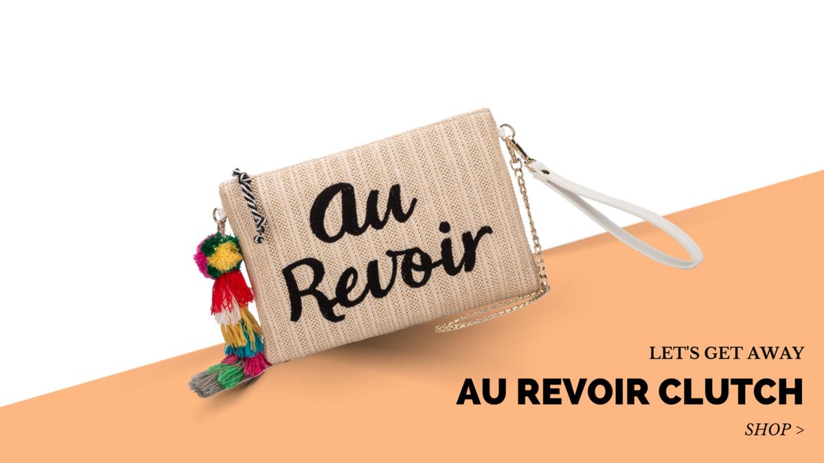 Au Revoir Clutch Melie Bianco Bags Handbags