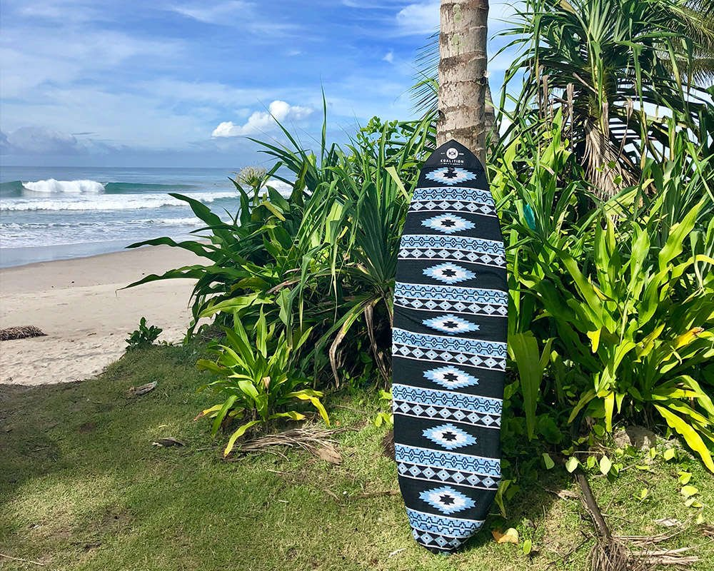 surfgirl beach boutique aztec board sock bag protection surfboard