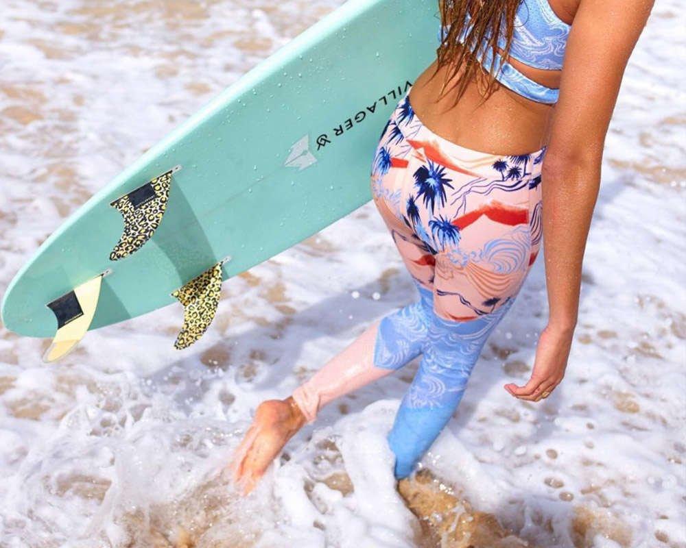 surfgirl beach boutique surf leggings neoprene roxy pop surf