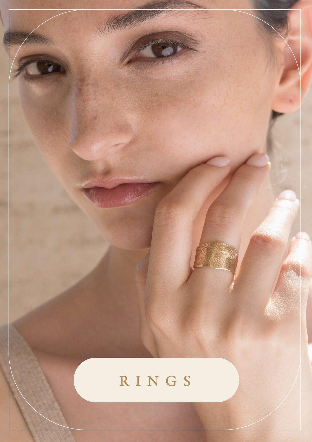 Anelli foglia oro Indian Leaves   Gioielli Giulia Barela Jewelry