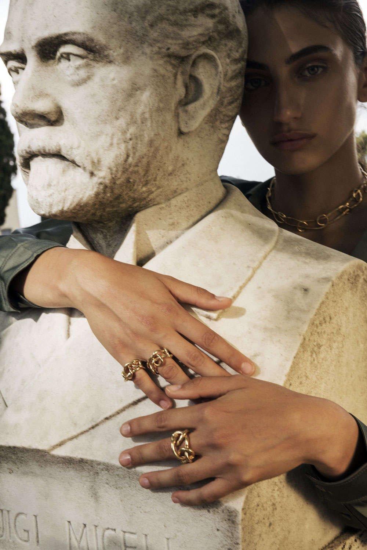 Sculptural jewels handmade by Giulia Barela