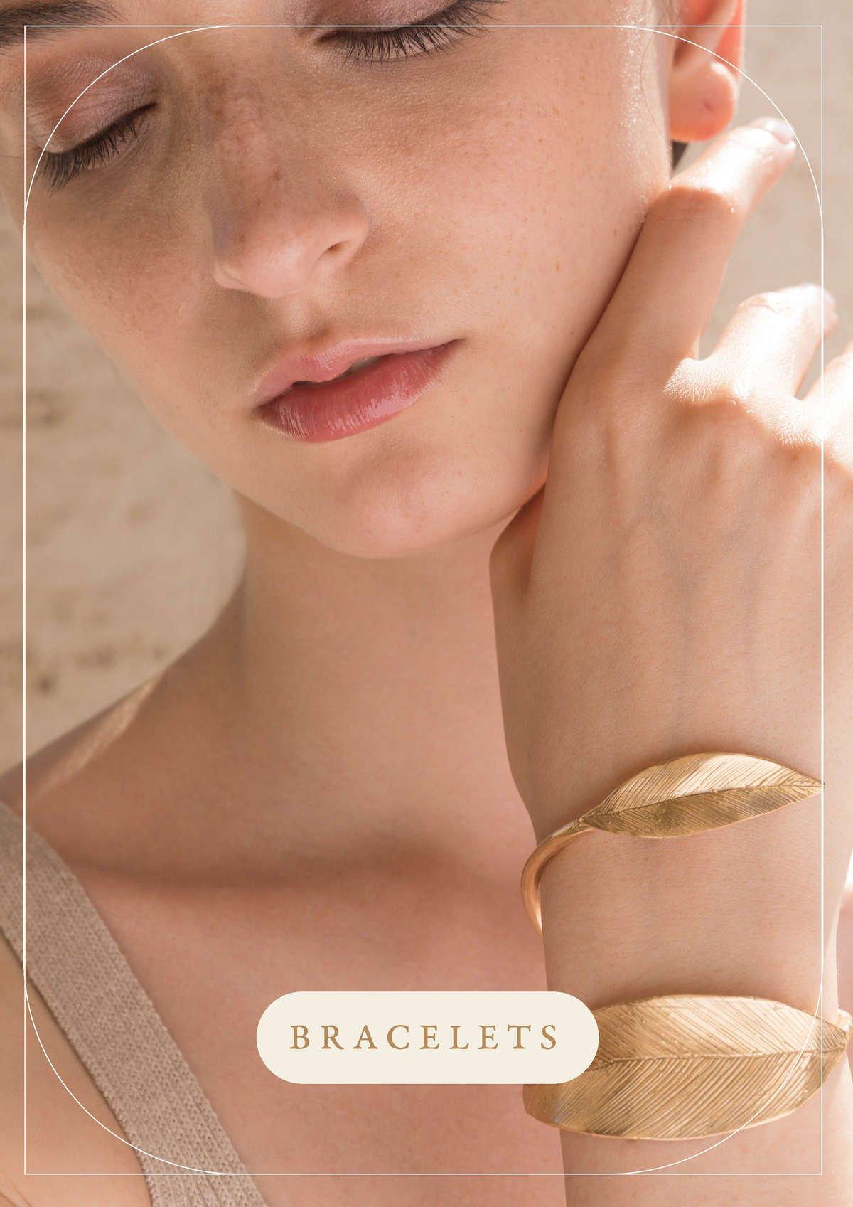 Bracciali con foglie dorate Indian Leaves   Gioielli Giulia Barela Jewelry