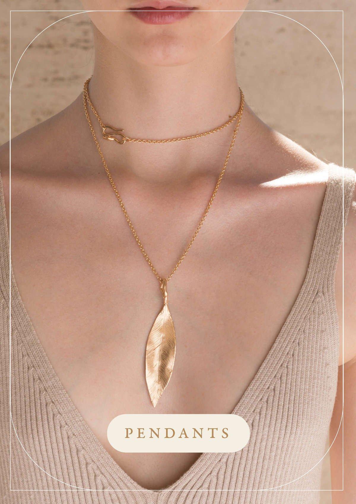 Pendenti foglia Indian Leaves   Gioielli Giulia Barela Jewelry