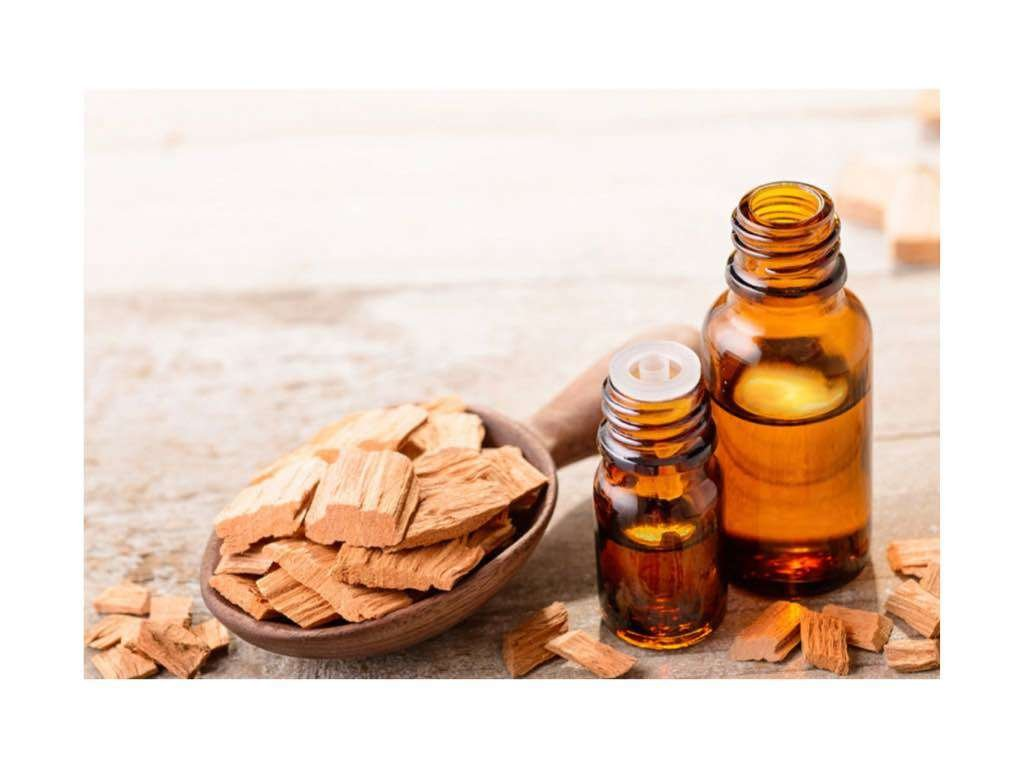 sandalwood essential oil tightens skin