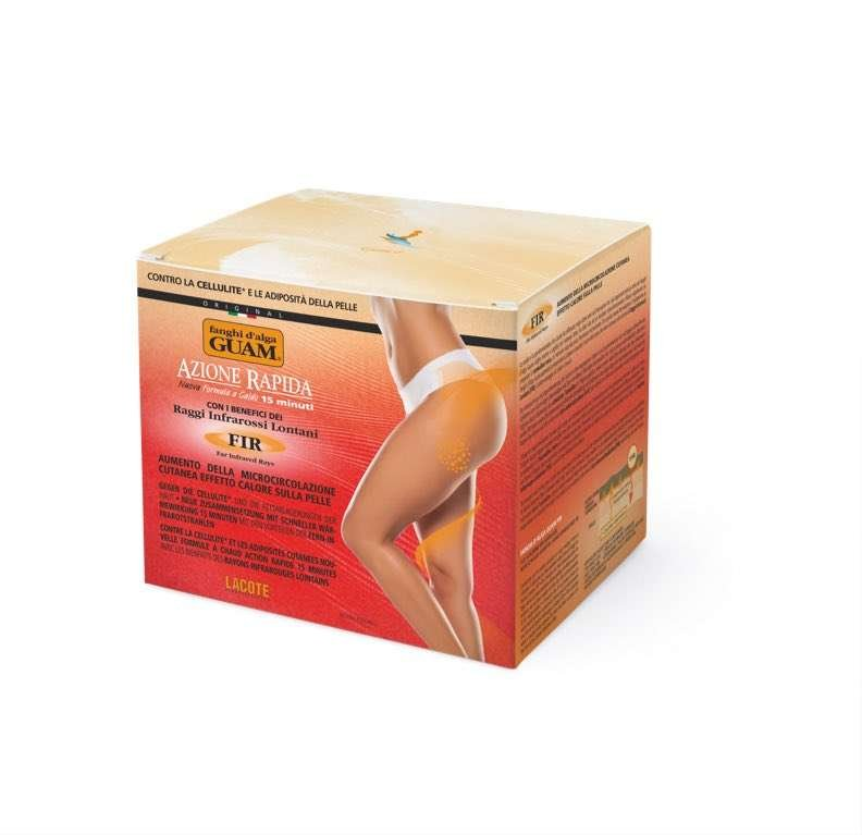 GUAM SEAWEED MUD CELLULITE BODY WRAP with inferred hit fast action