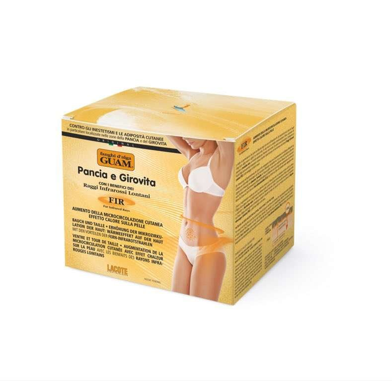 seaweed infrared body wrap for cellulite on stomach tummy by guam