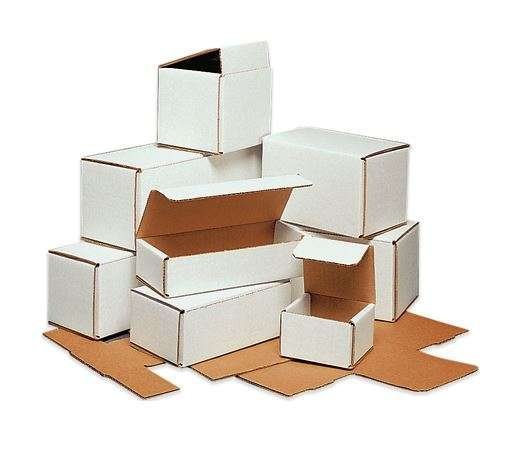 White Folding Mailers