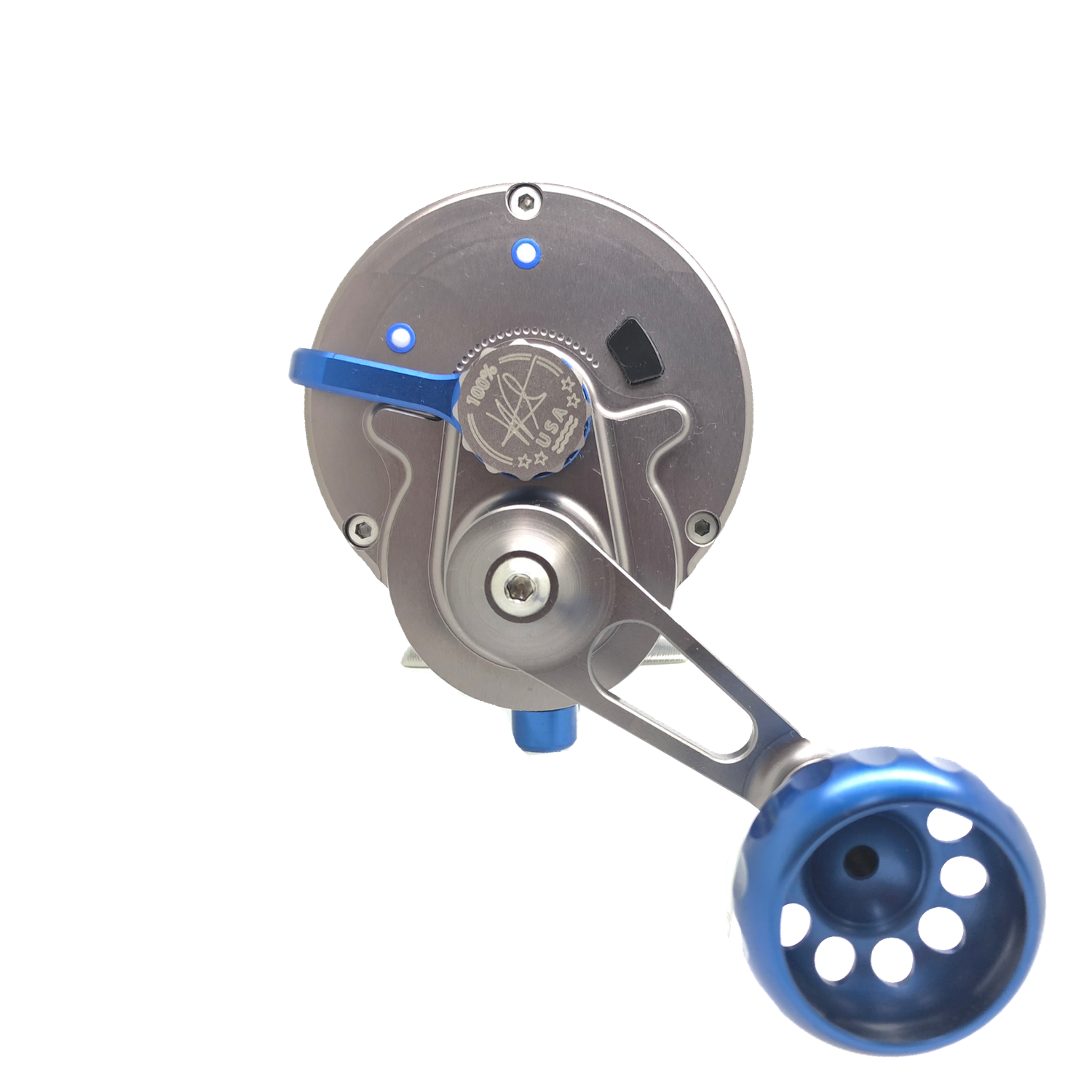 SEiGLER OS conventional fishing reel, Made in Virginia, Virginia beach manufacturer,  Lever drag fishing reel,  Machined Aluminum,