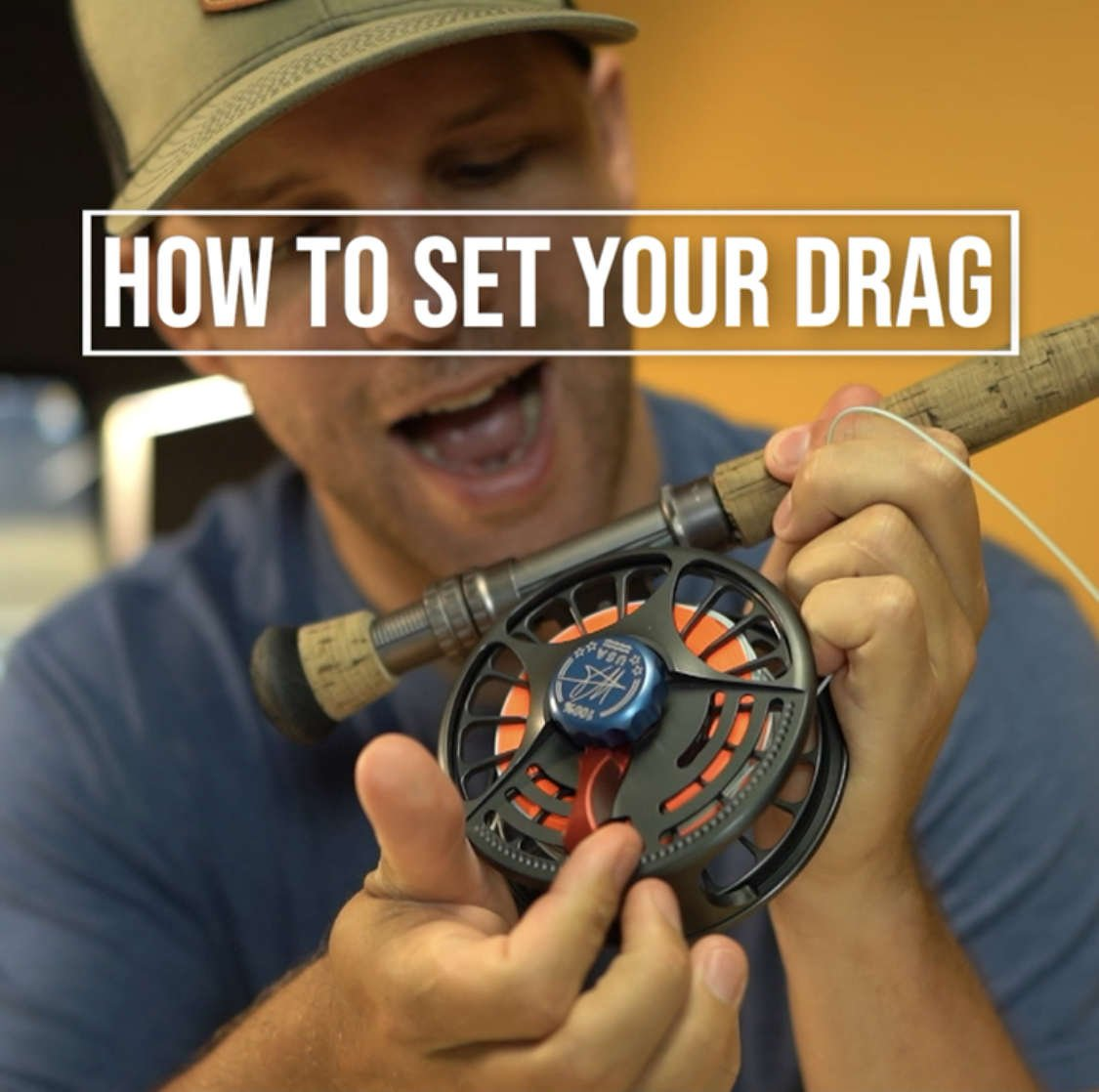 setting the drag on the Seigler saltwater fly reel.