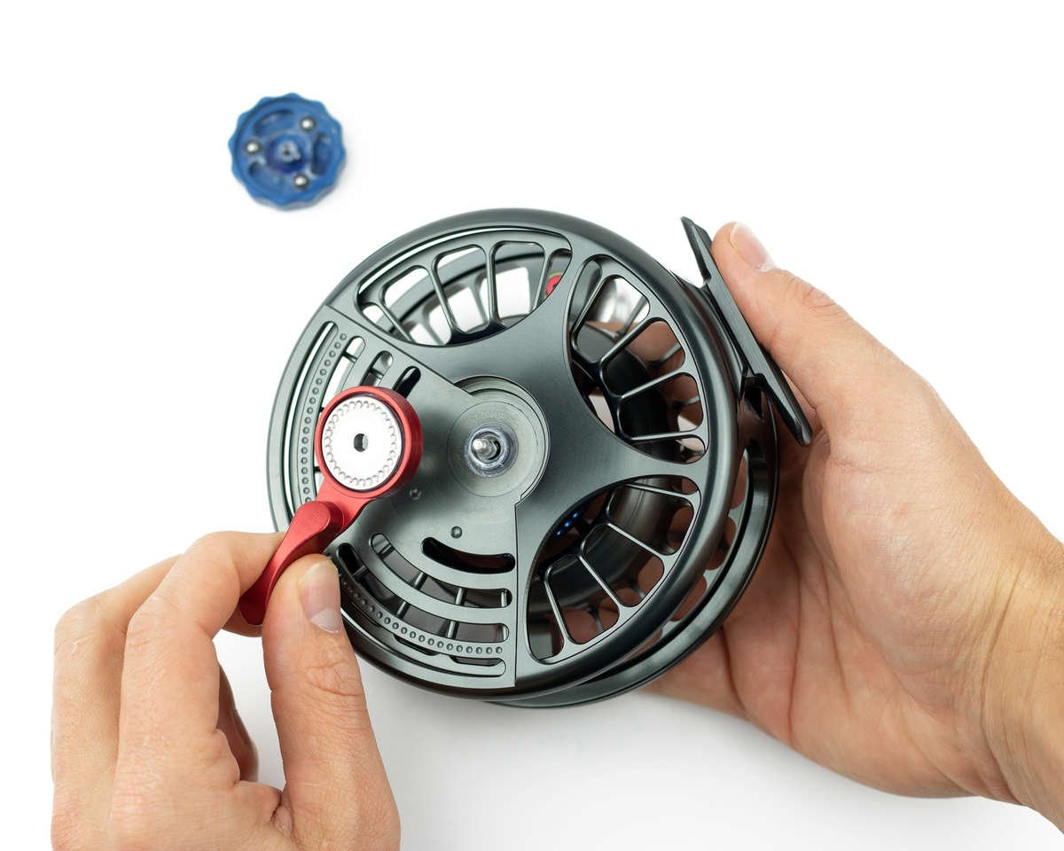 removing the lever drag on the seigler saltwater fly reel.