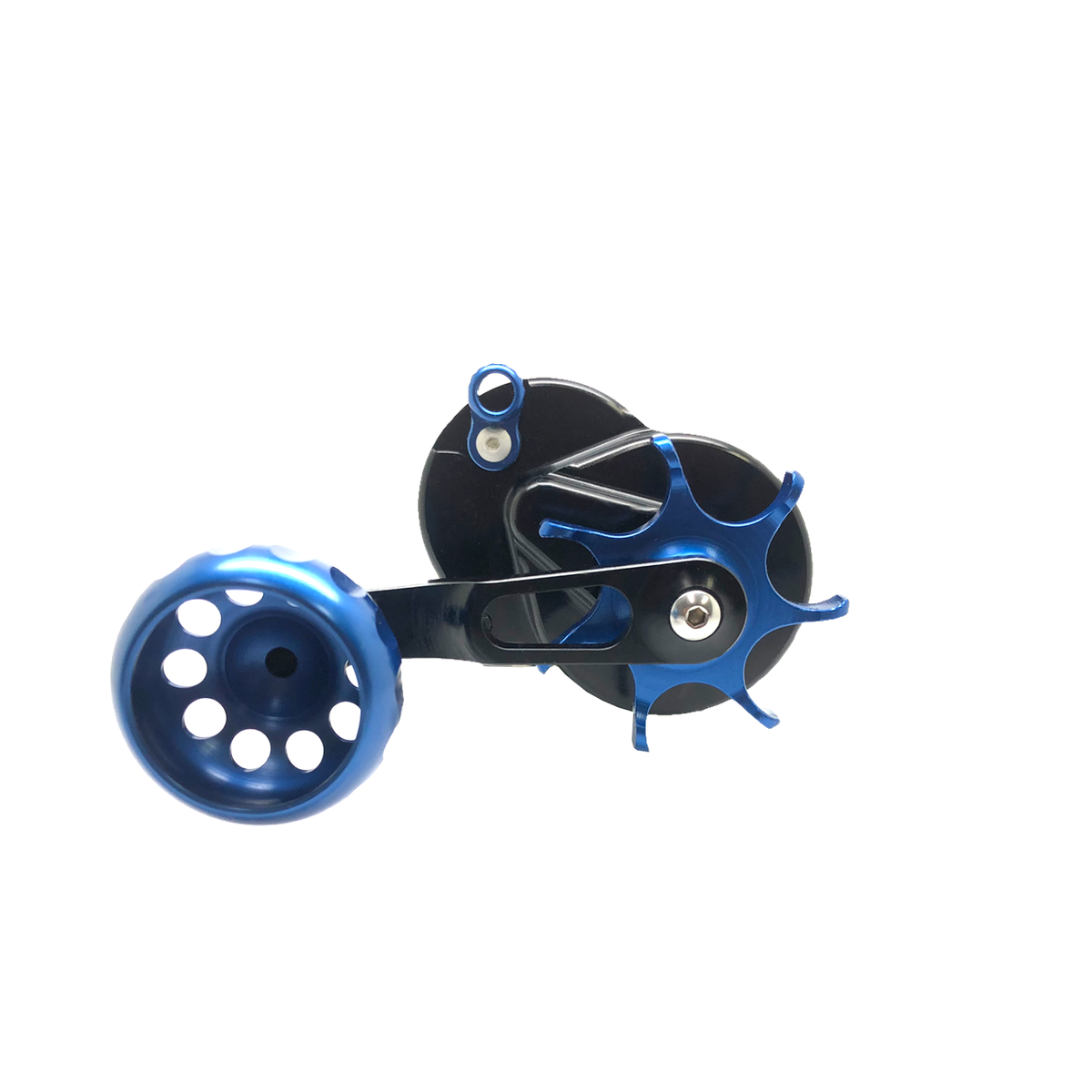 SEiGLER SM THE SURF REEL built to outcast anyone Conventional lever drag fishing reel in Silver accents and Gunmetal anodized finish, American made made in Virginia Lifetime warranty