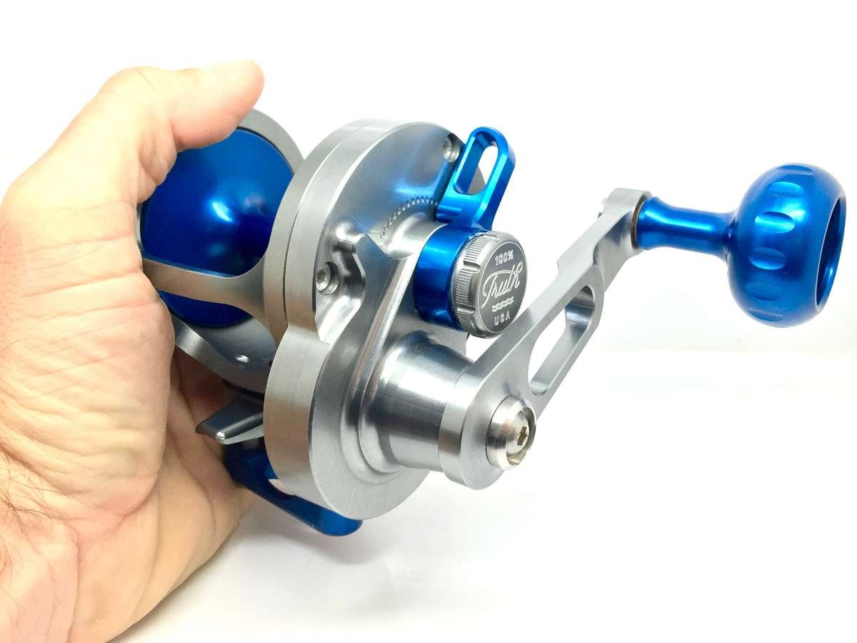 SEiGLER LG BLUE LEVER DRAG FISHING REEL LARGE GAME RIGHT HAND MACHINED AND ASSEMBLED IN THE USA