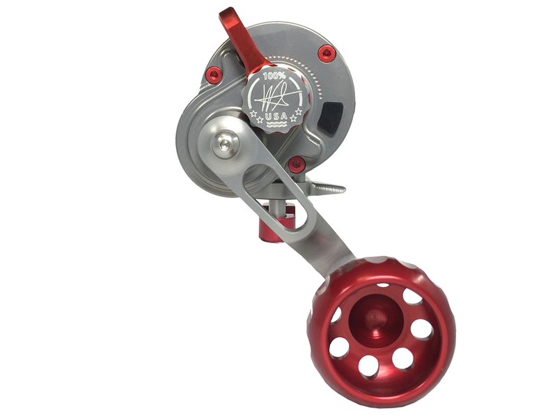 SEiGLER LEVER DRAG SG (Small game) Fishing reel in Red accents Made in USA Machined Finished  Assembled all in Virginia Beach Virginia