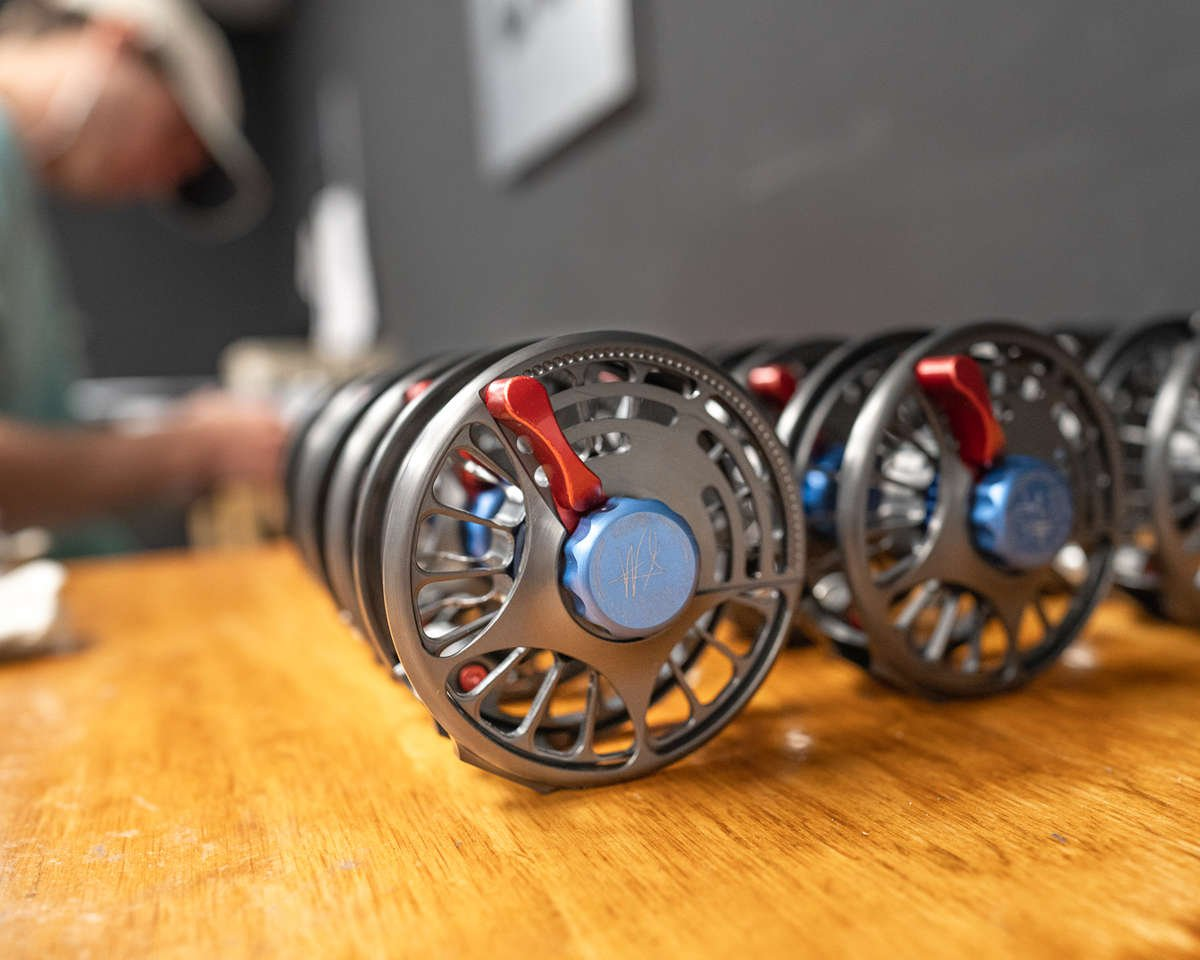Fly Reels in an assembly room ready to be built.