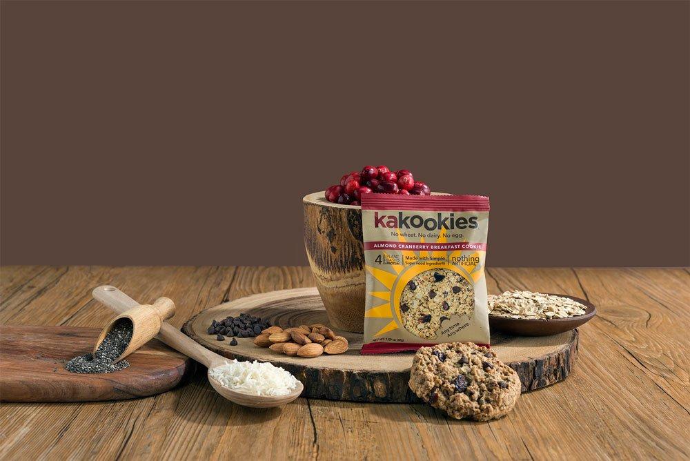 Kakookies Almond Cranberry Better For You Delicious Superfood Vegan Gluten Free Breakfast Cookies