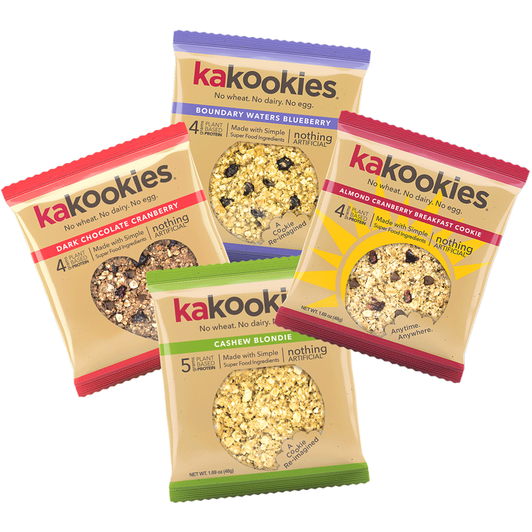 Kakookies Grab and Go Delicious Superfood Vegan Gluten Free Energy Snack Cookies