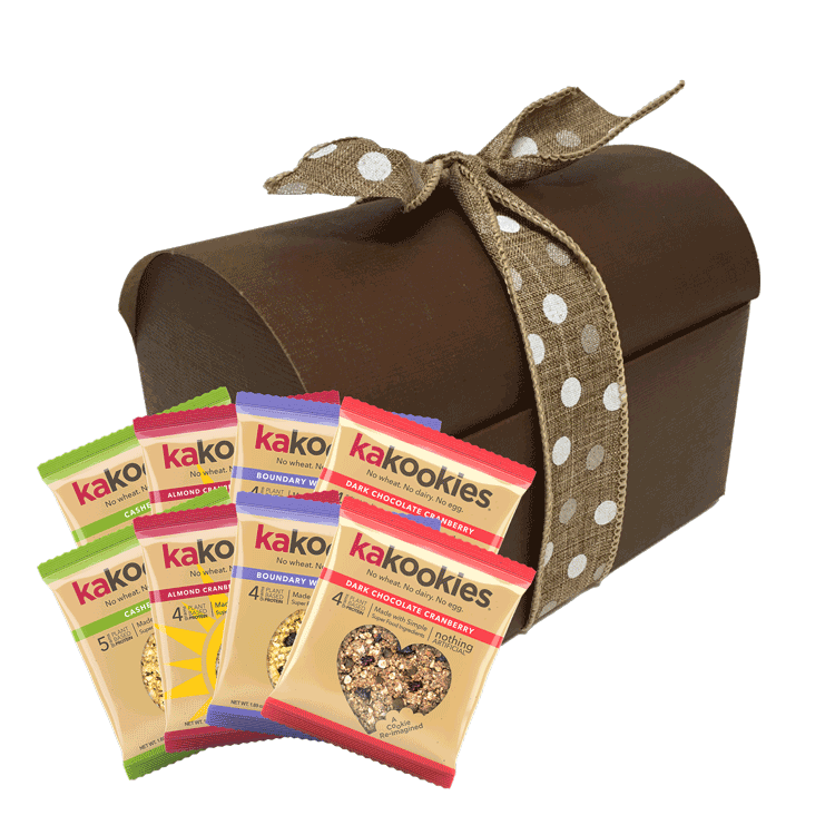Kakookies Gift Box of Assorted Energy Snack Superfood Oatmeal Cookies