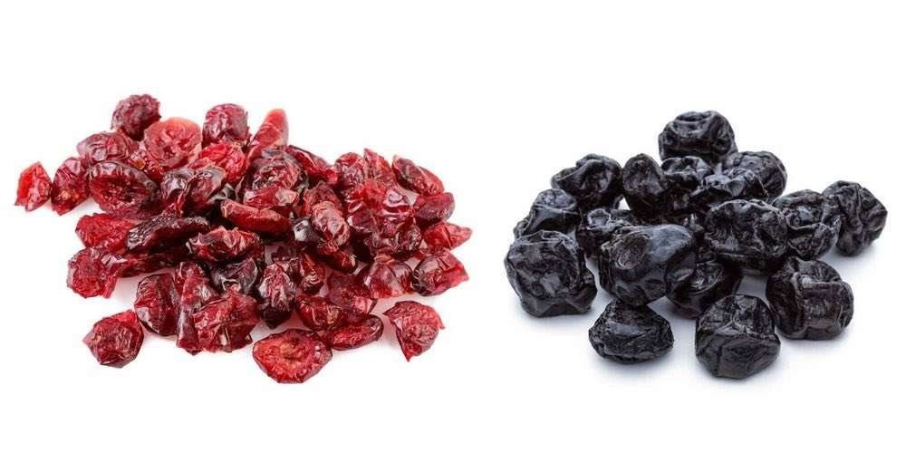 antioxidant rich cranberries and blueberries