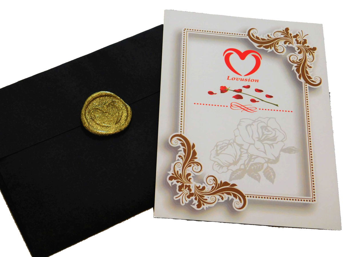 Custom wax sealed note with roses and chocolates