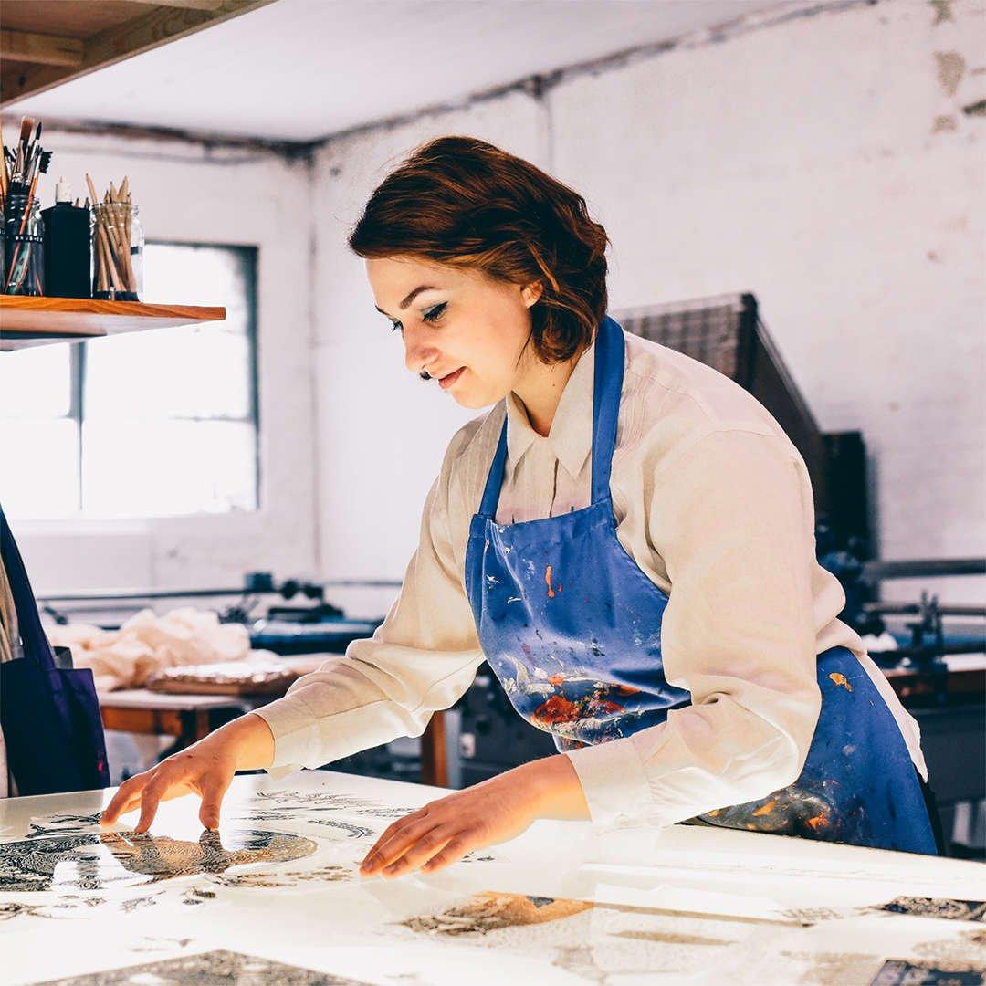 Anna Palamar in her Studio