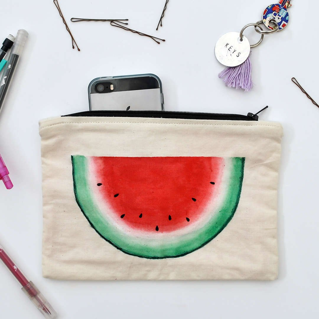 Watermelon Zipper Pouch by The Delightfully Chaotic Company