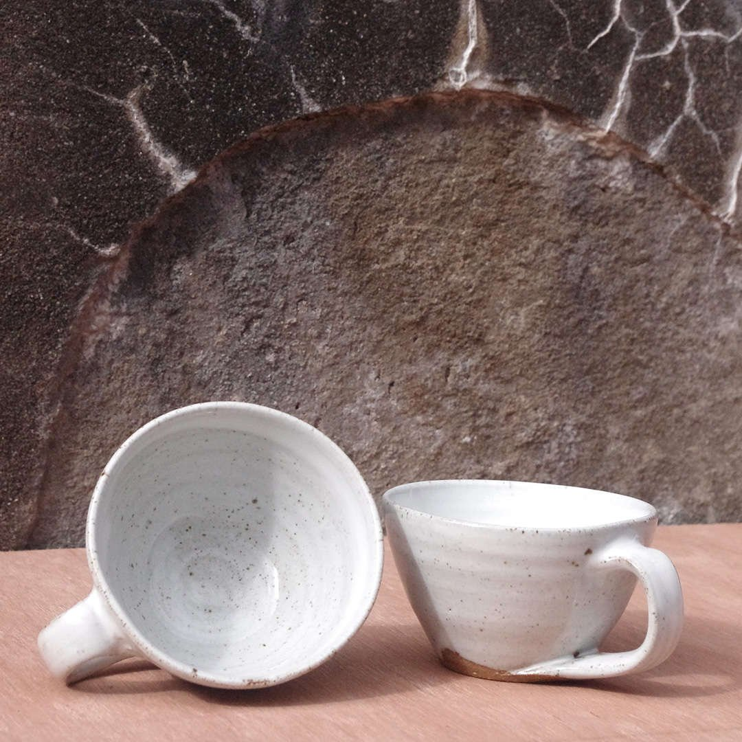 White Glaze Coffee Cups