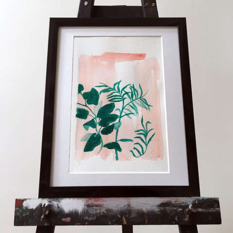 Pinku Painting on Easel