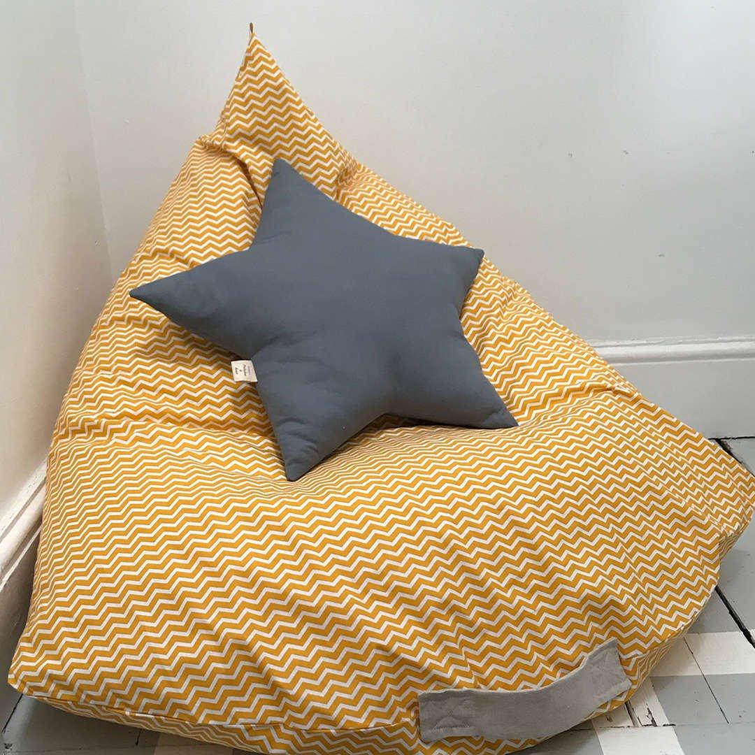 Star Cushion on Beanbag