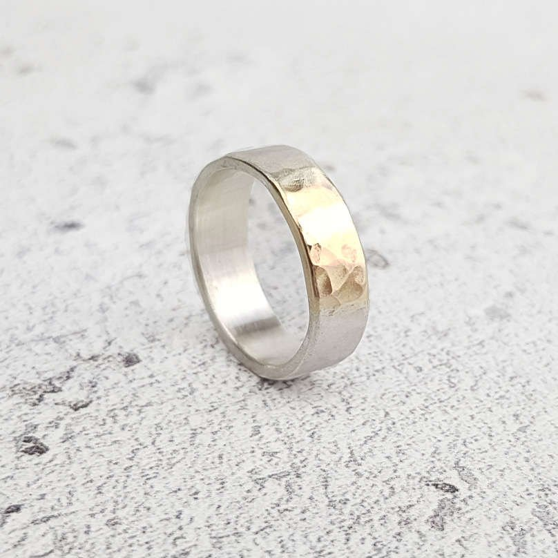 Hammered Chunky Ring by Lydia Niziblian