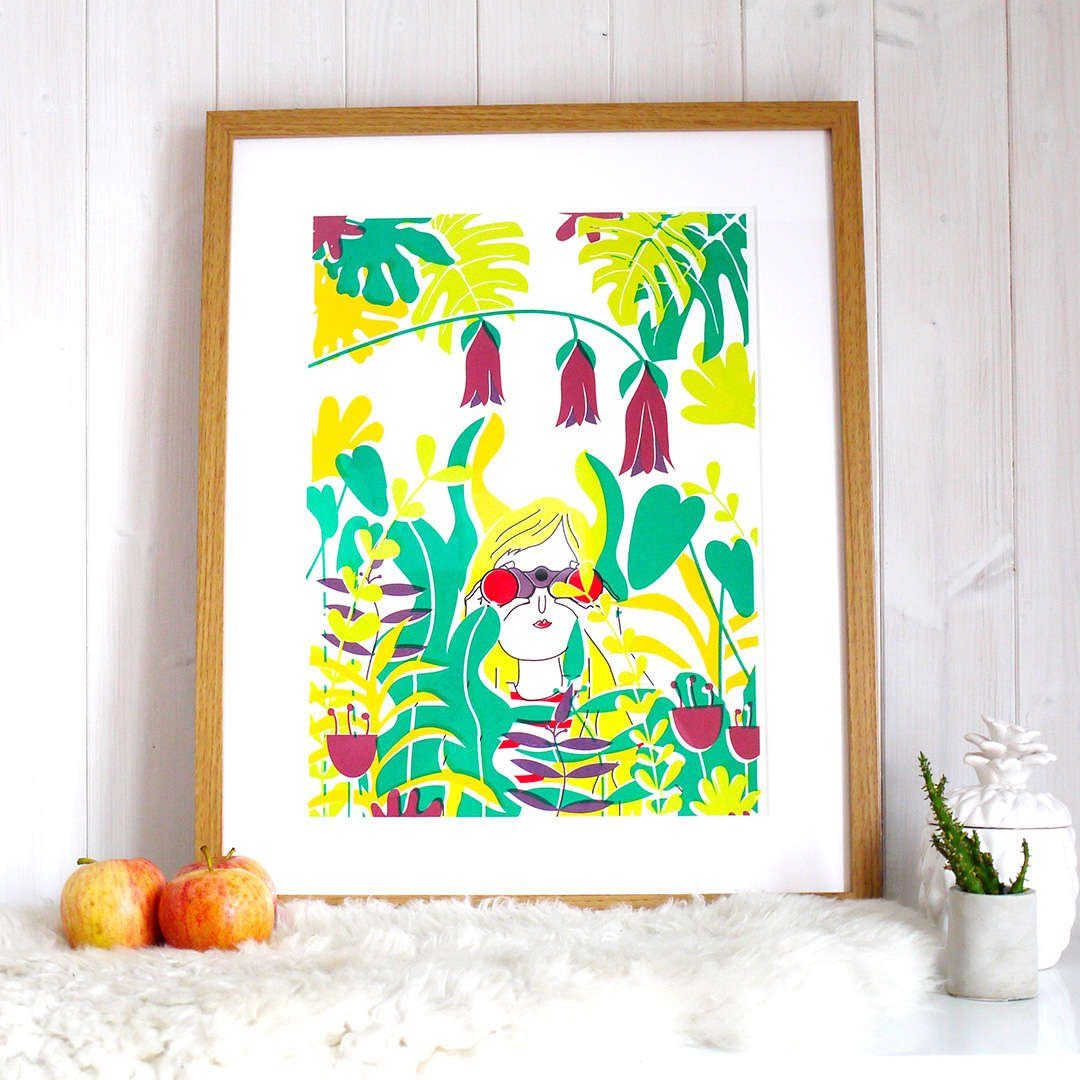Let's Explore Print by Joanna Prints
