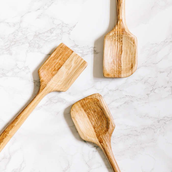 Hand-carved kitchen spoons