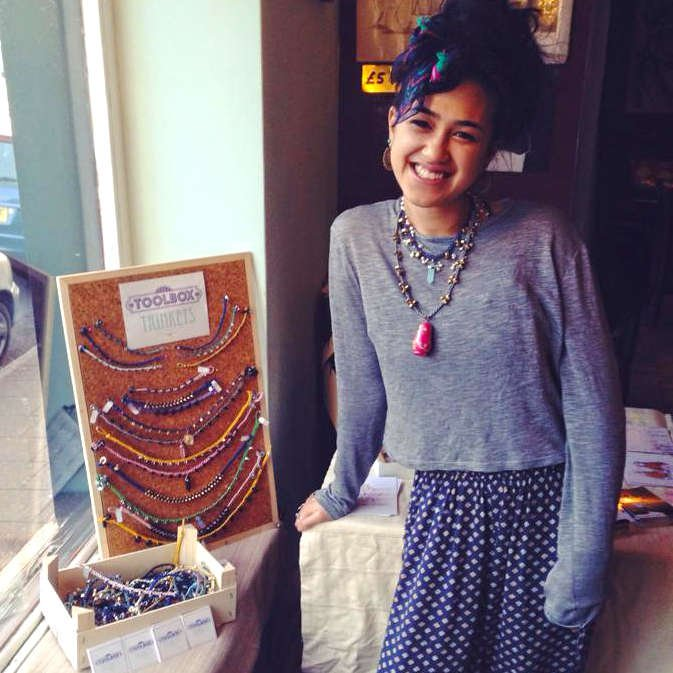 Kiran from Toolbox Trinkets with her jewellery