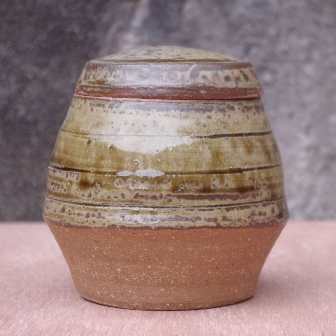 Dark Ash Glazed Jar