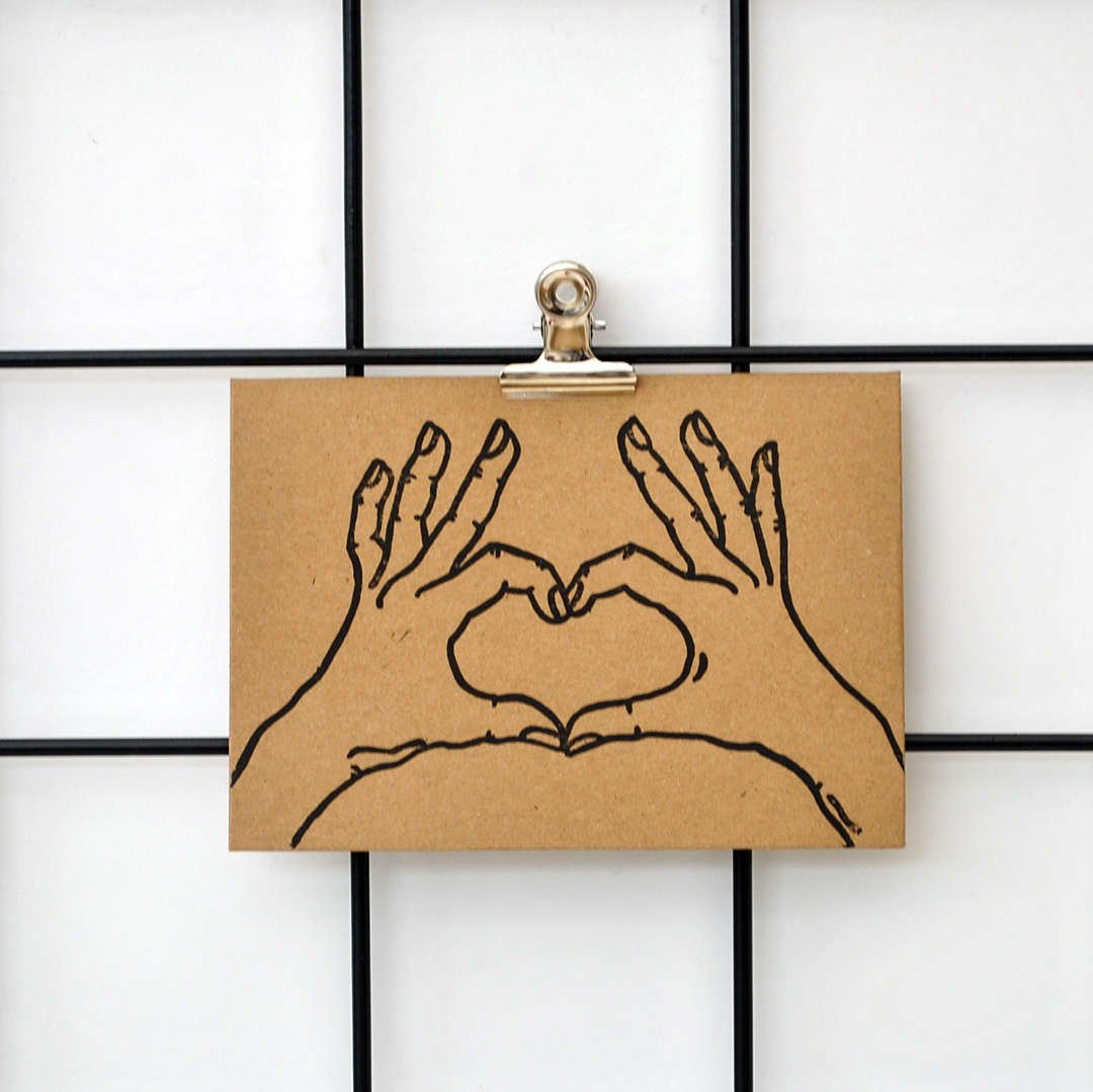 Heart Hands Card by The Delightfully Chaotic Company