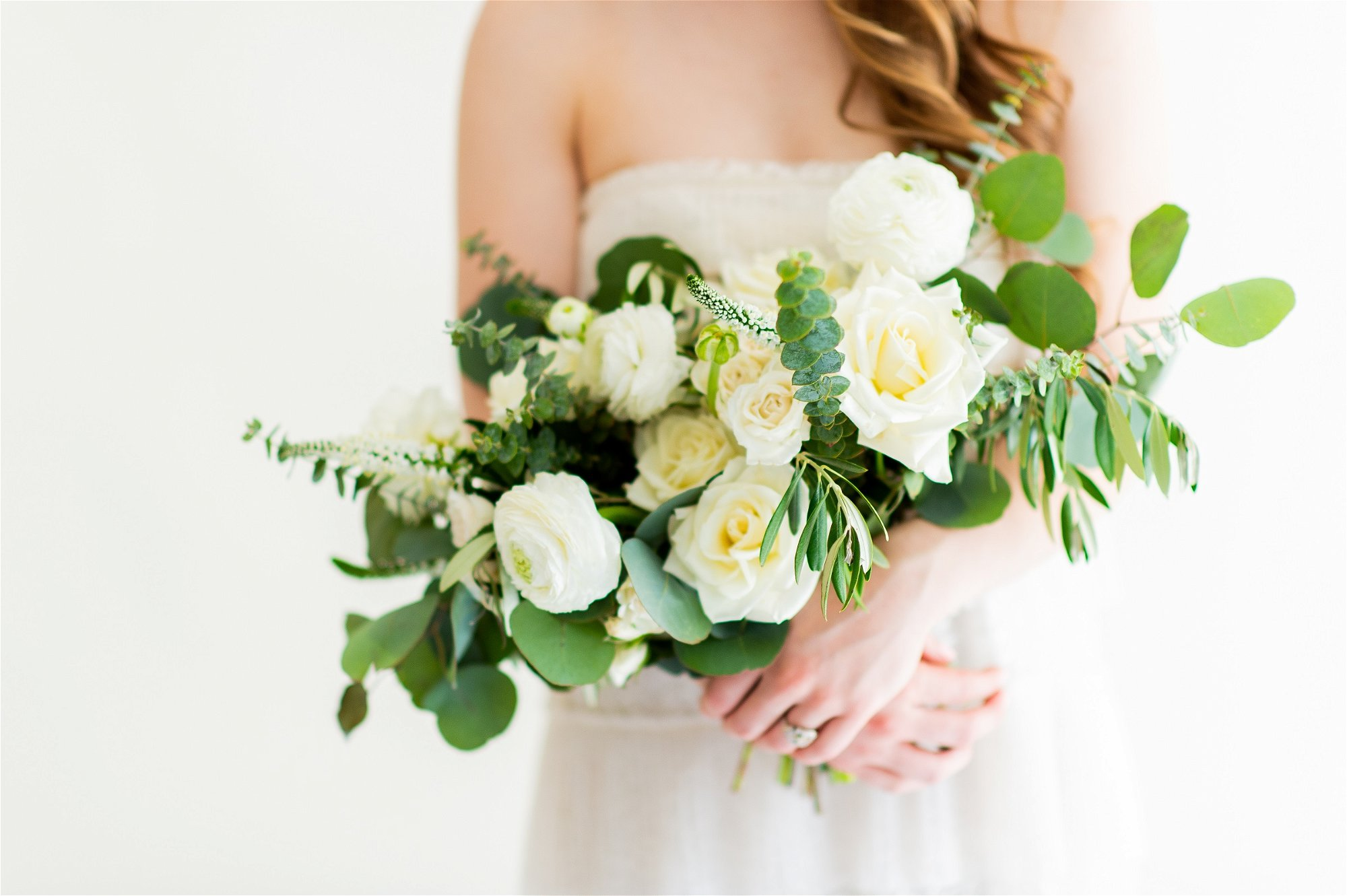 Sage and Cream Bridal Bouquet, Flower Moxie, DIY wedding Bouquet, ranunculus bouuqet, baby blue eucalyptus, veronica bouquet
