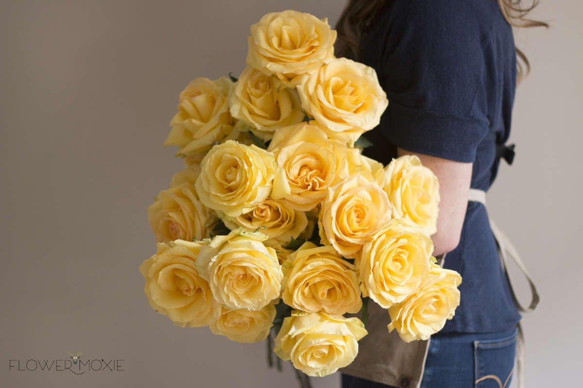 deja vu rose, yellow rose, bright rose, happy rose, flower moxie, DIY bride, DIY flower ideas, DIY wedding ideas, DIY bouquet ideas, DIY bridesmaid , DIY bridal bouquet ideas